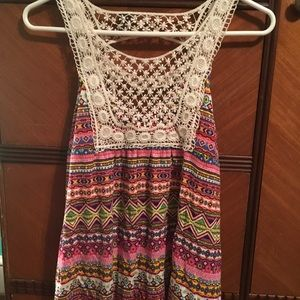 Colorful, dressy tank top